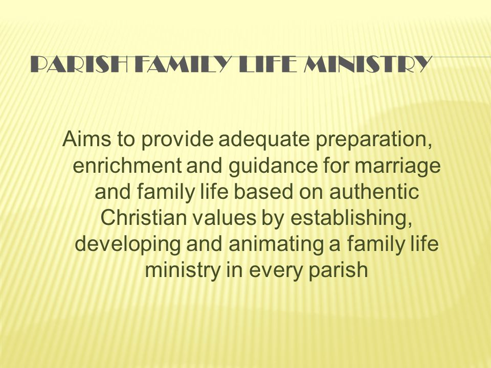Parish Family Life Ministry