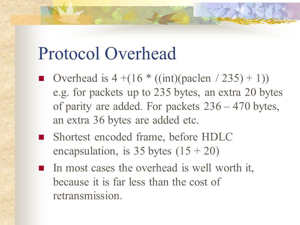Protocol Overhead