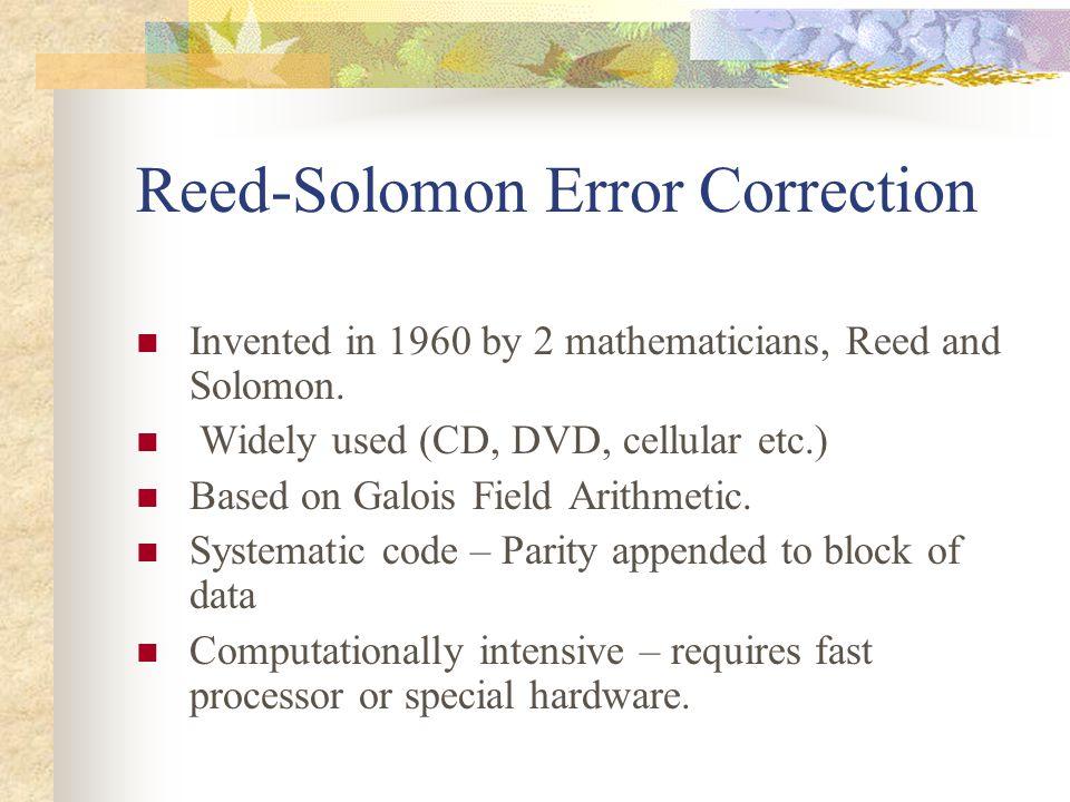 Reed-Solomon Error Correction