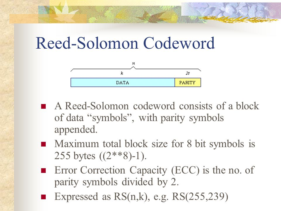 Reed-Solomon Codeword