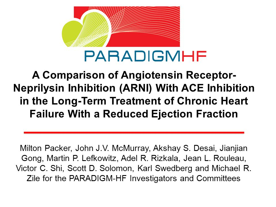 A Comparison of Angiotensin Receptor-Neprilysin Inhibition (ARNI) With ACE Inhibition in the Long-Term Treatment of Chronic Heart Failure With a Reduced Ejection Fraction
