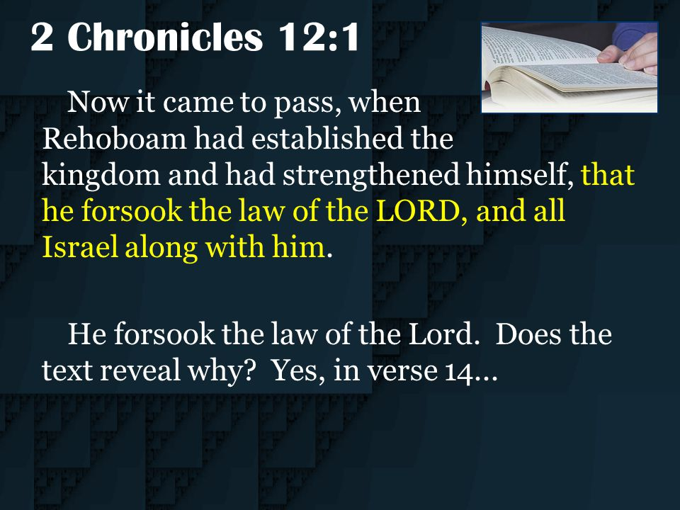 2 Chronicles 12:1