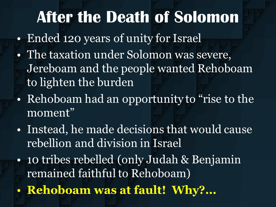After the Death of Solomon