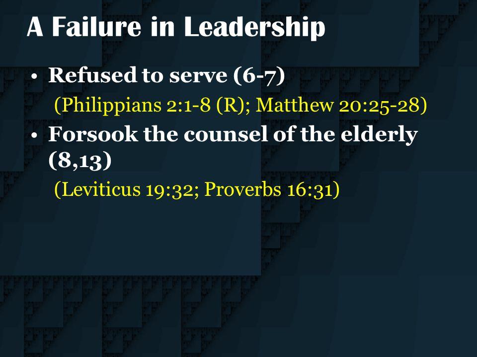 A Failure in Leadership