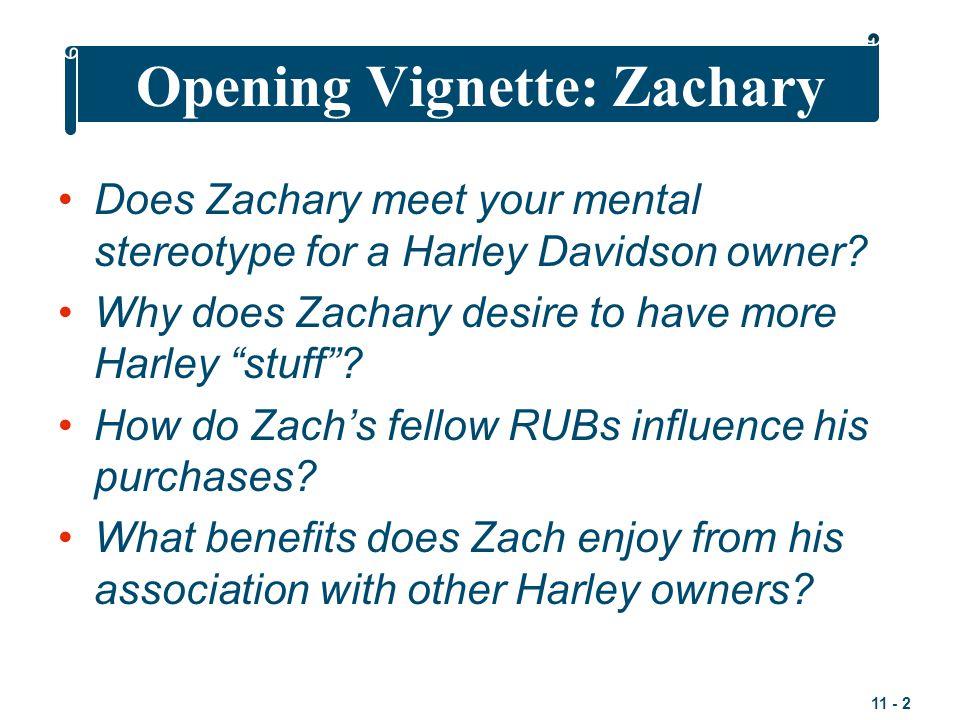 Opening Vignette: Zachary