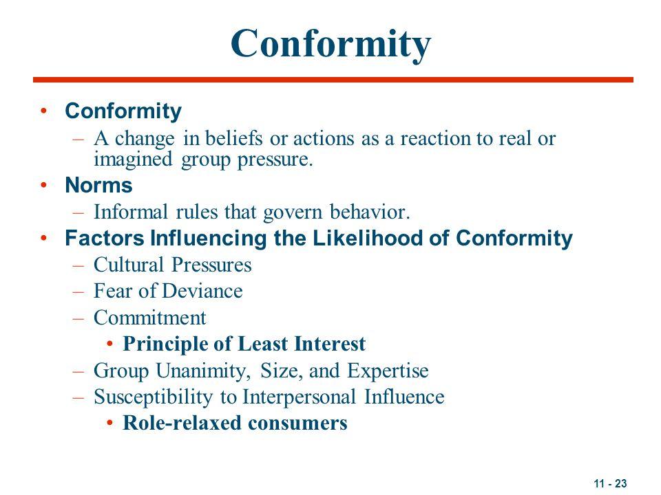 Conformity Conformity