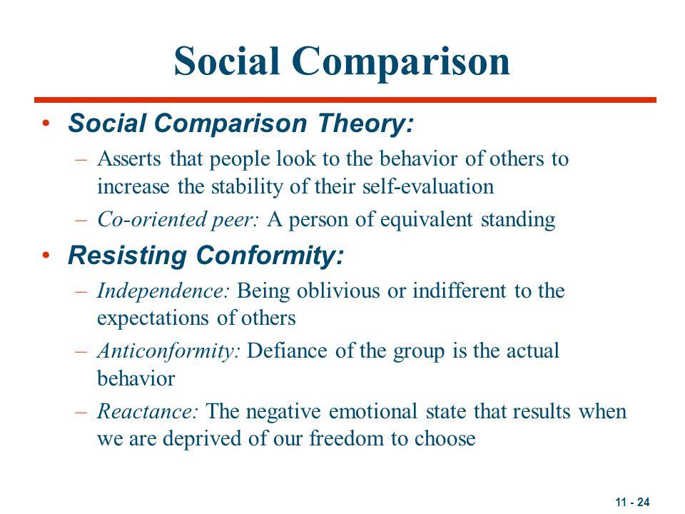 Social Comparison Social Comparison Theory: Resisting Conformity: