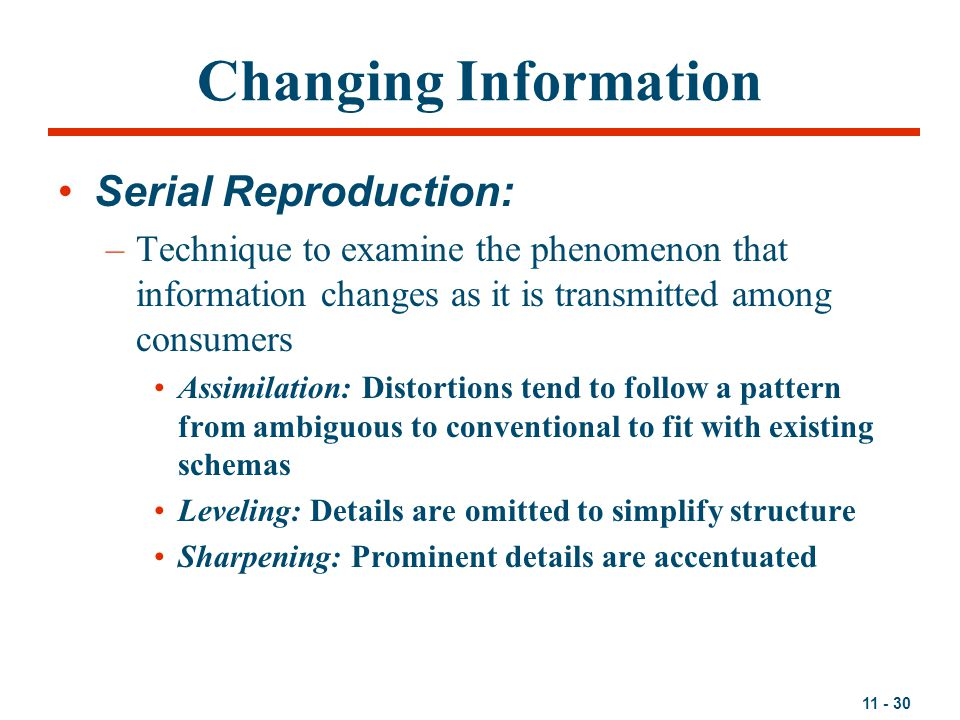 Changing Information Serial Reproduction: