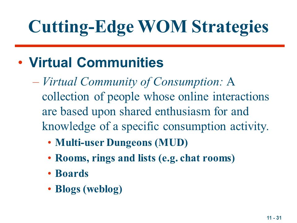 Cutting-Edge WOM Strategies