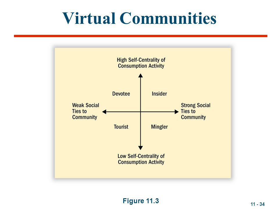 Virtual Communities Figure 11.3