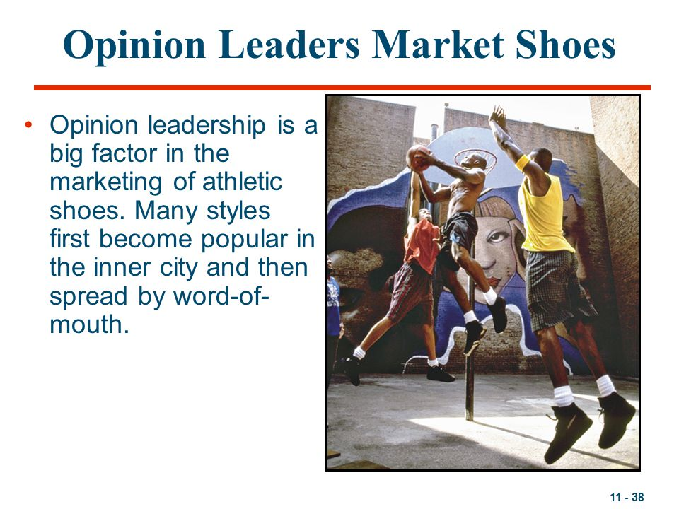 Opinion Leaders Market Shoes