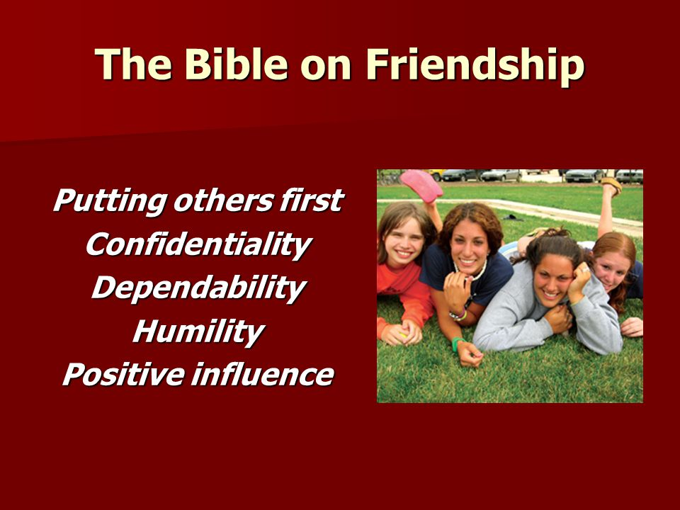 The Bible on Friendship