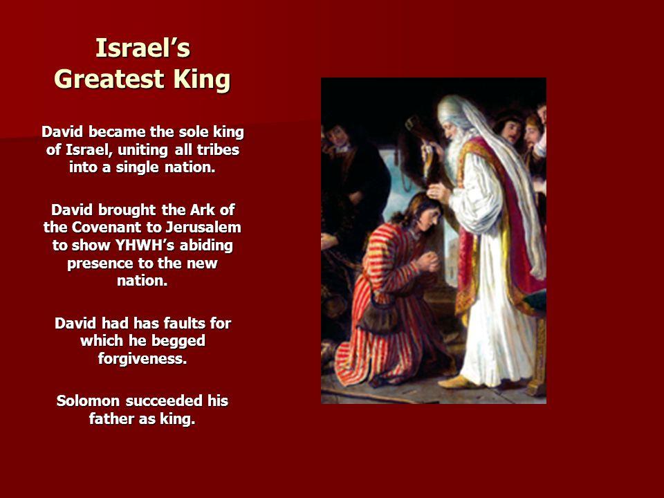 Israel's Greatest King