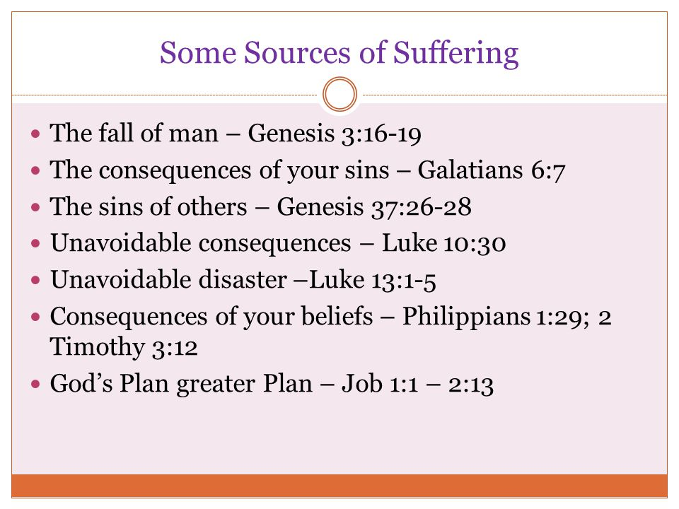 Some Sources of Suffering