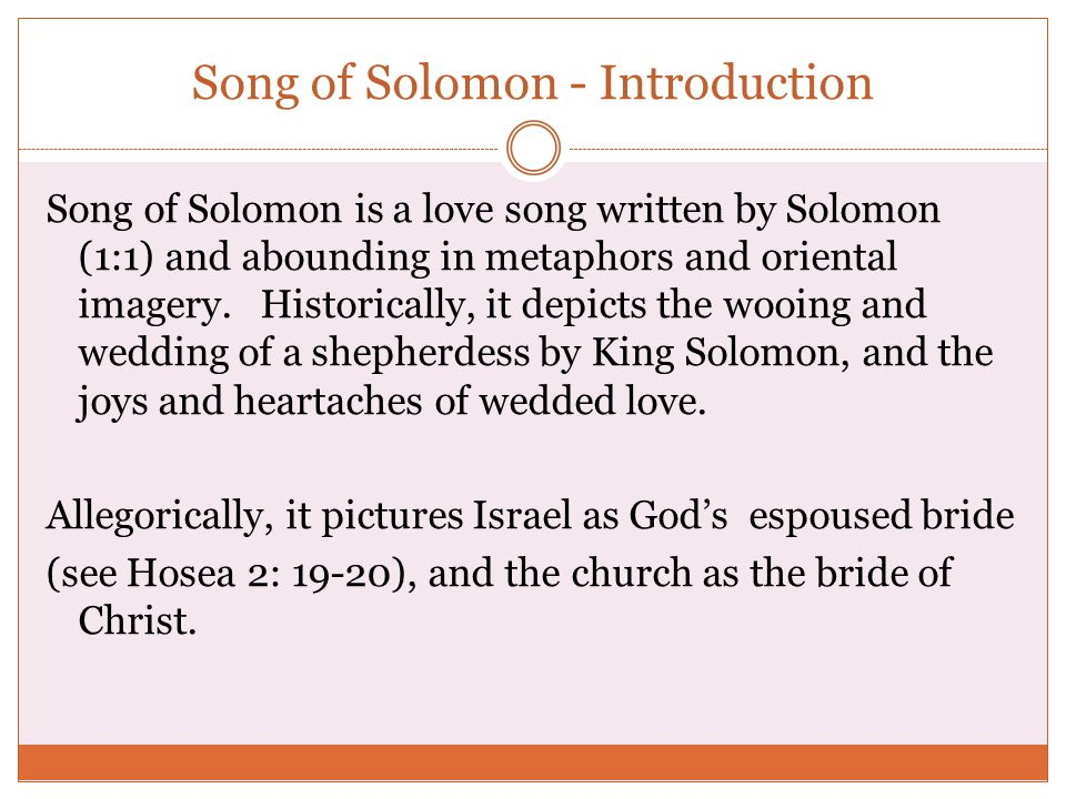 Song of Solomon - Introduction