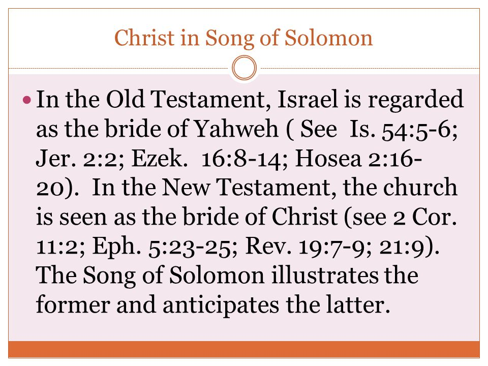 Christ in Song of Solomon