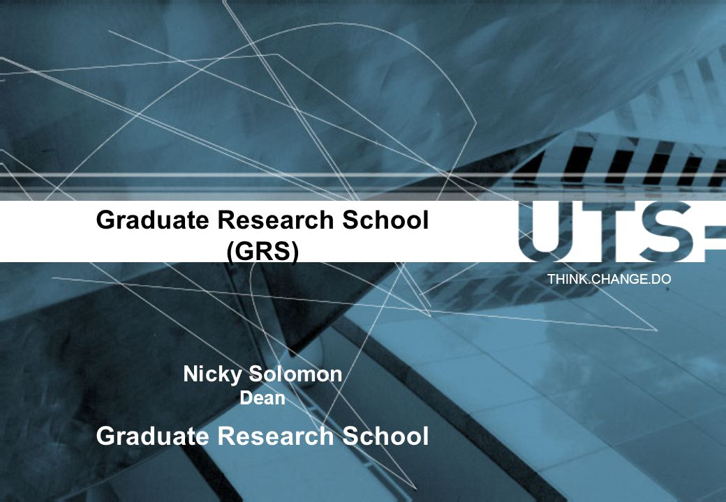 Graduate Research School