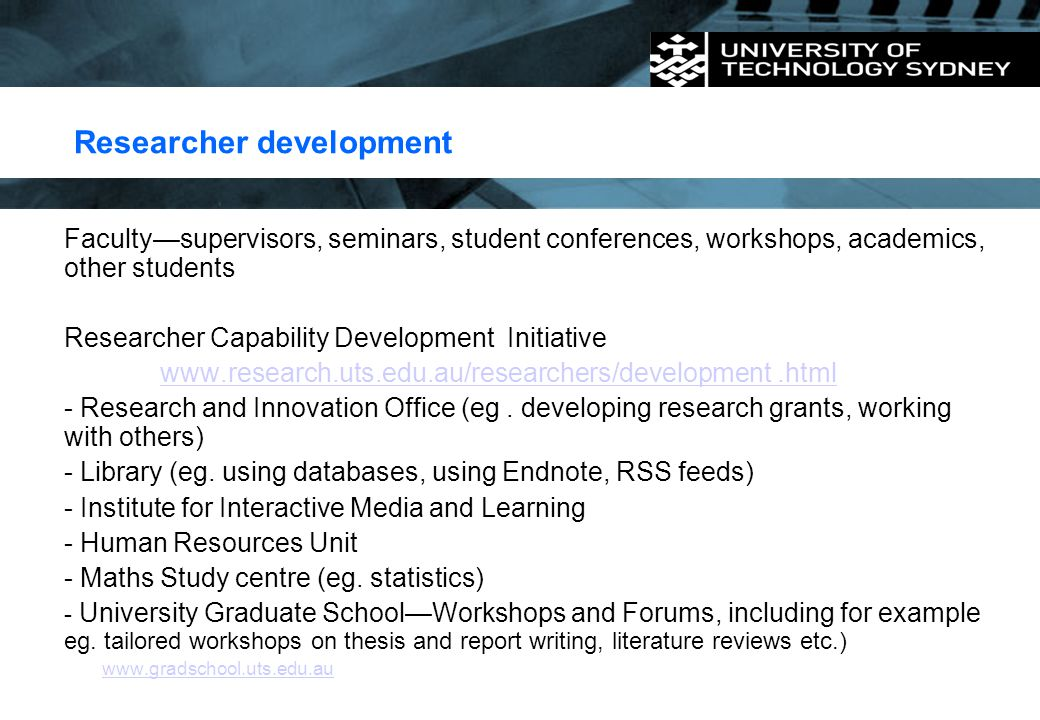 Researcher development