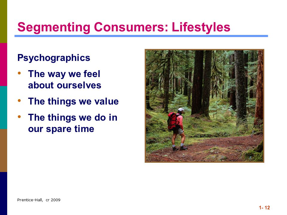 Segmenting Consumers: Lifestyles