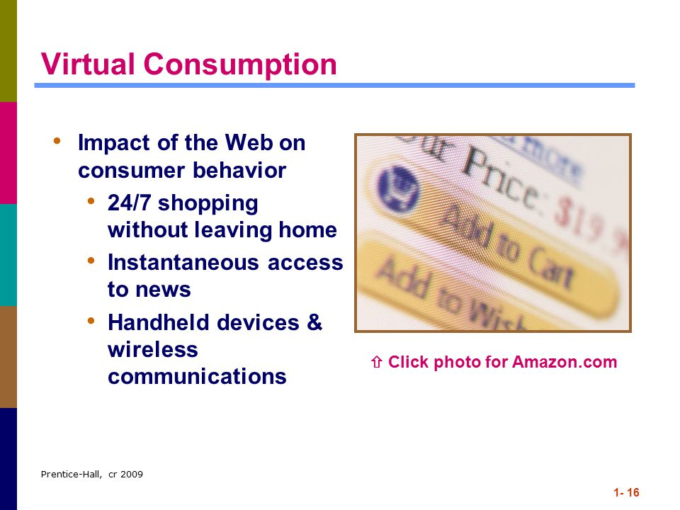 Virtual Consumption Impact of the Web on consumer behavior