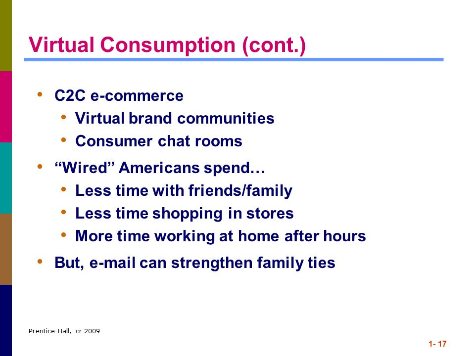 Virtual Consumption (cont.)
