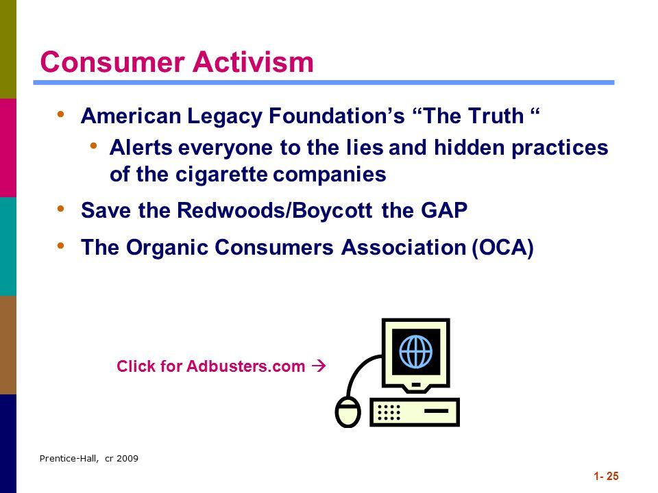 Consumer Activism American Legacy Foundation's The Truth