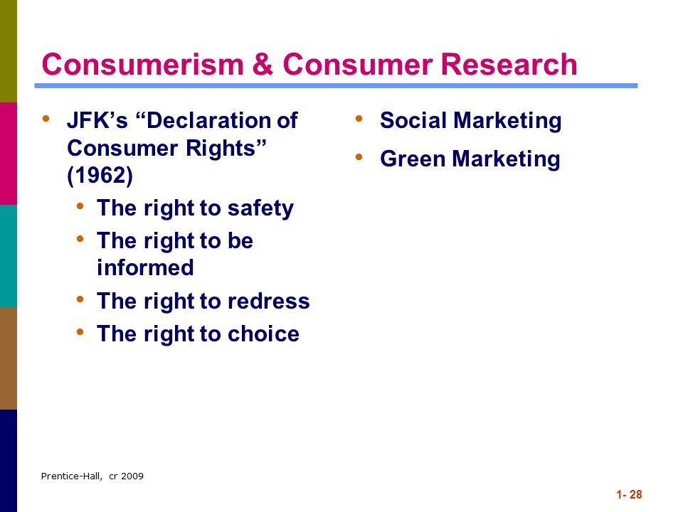 Consumerism & Consumer Research