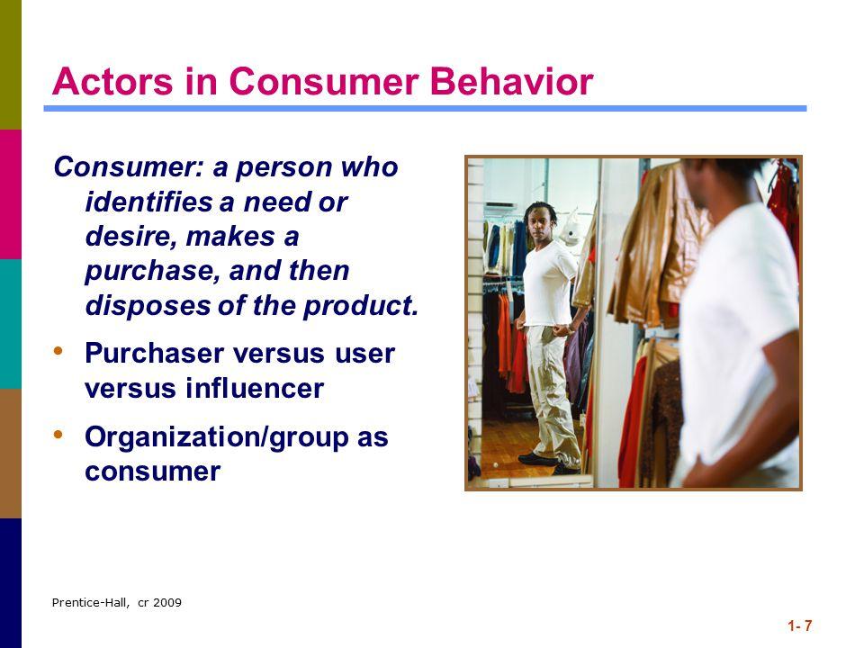 Actors in Consumer Behavior