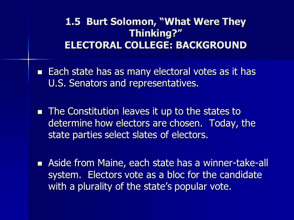 1. 5 Burt Solomon, What Were They Thinking