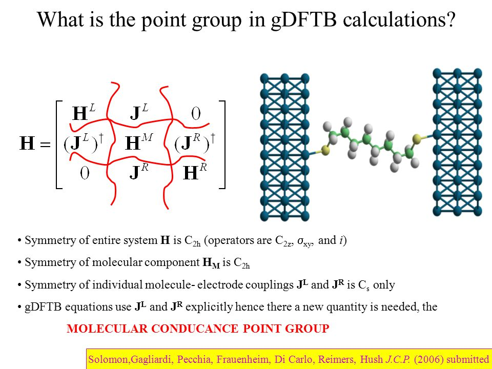 What is the point group in gDFTB calculations