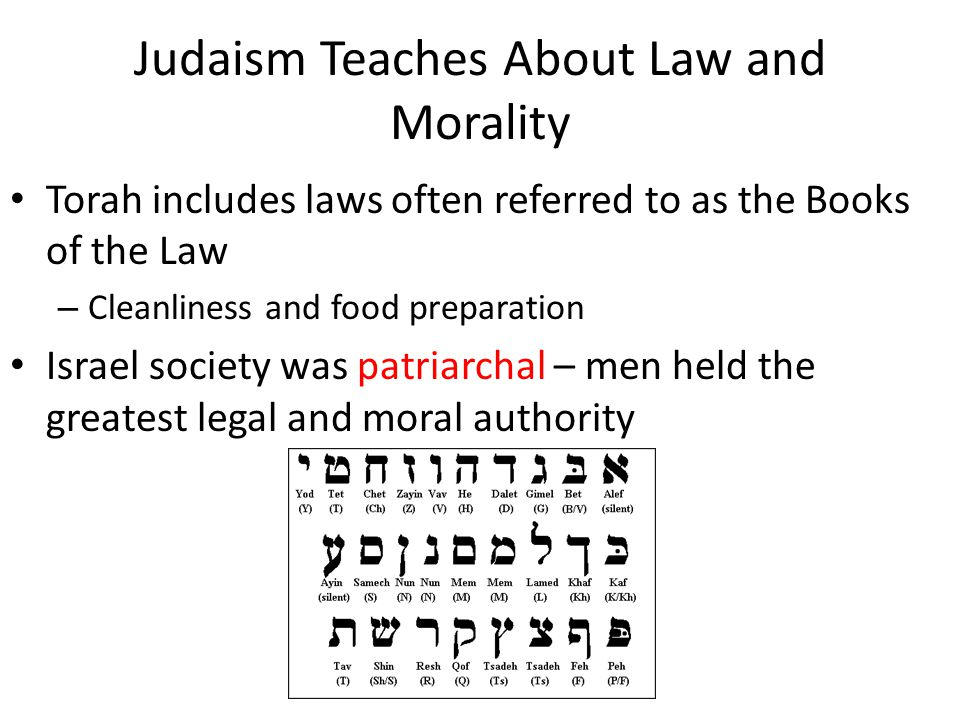 Judaism Teaches About Law and Morality