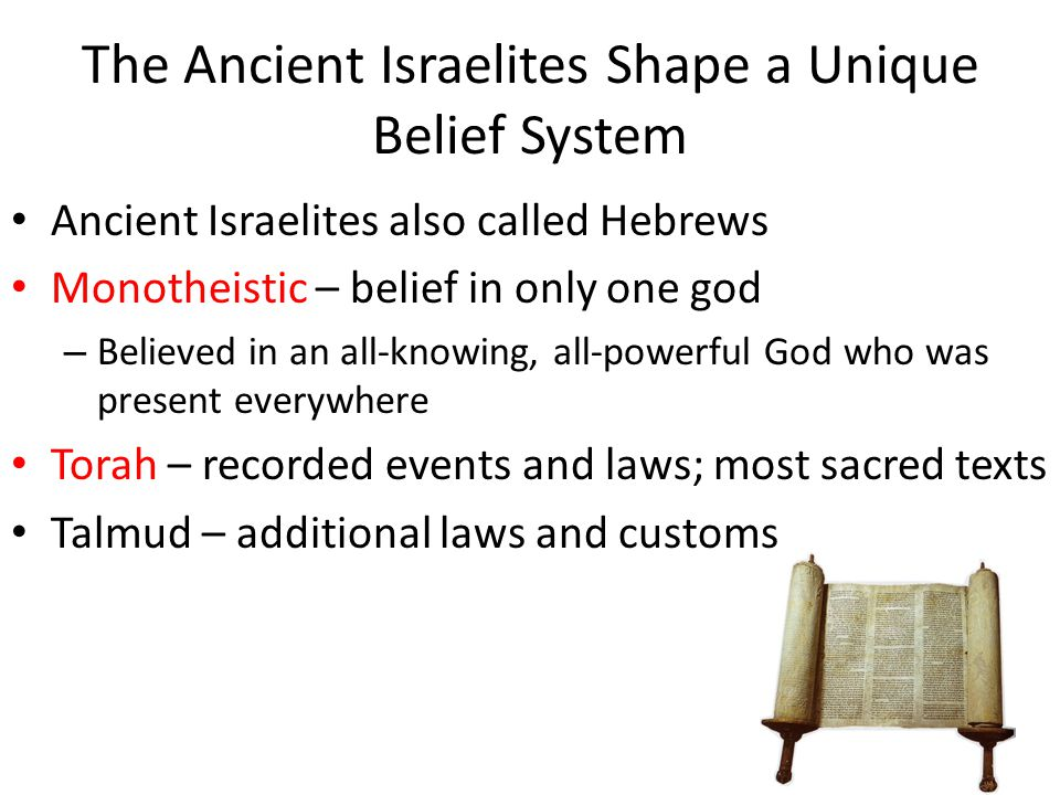 The Ancient Israelites Shape a Unique Belief System