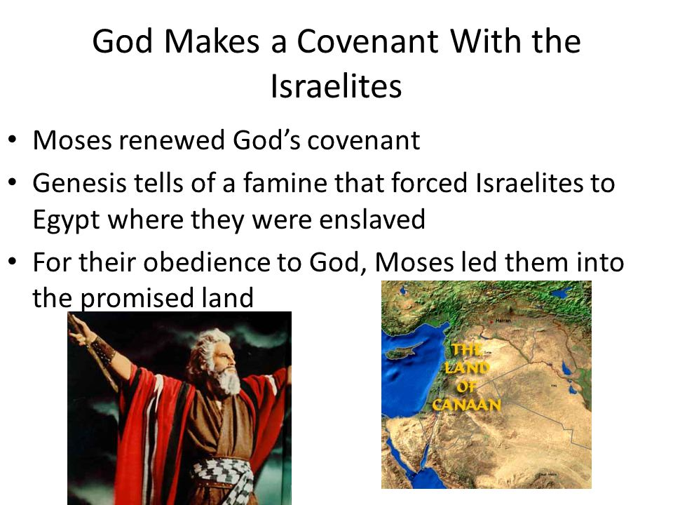 God Makes a Covenant With the Israelites