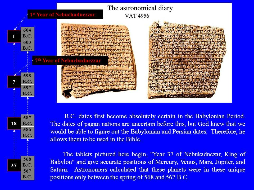 1st Year of Nebuchadnezzar