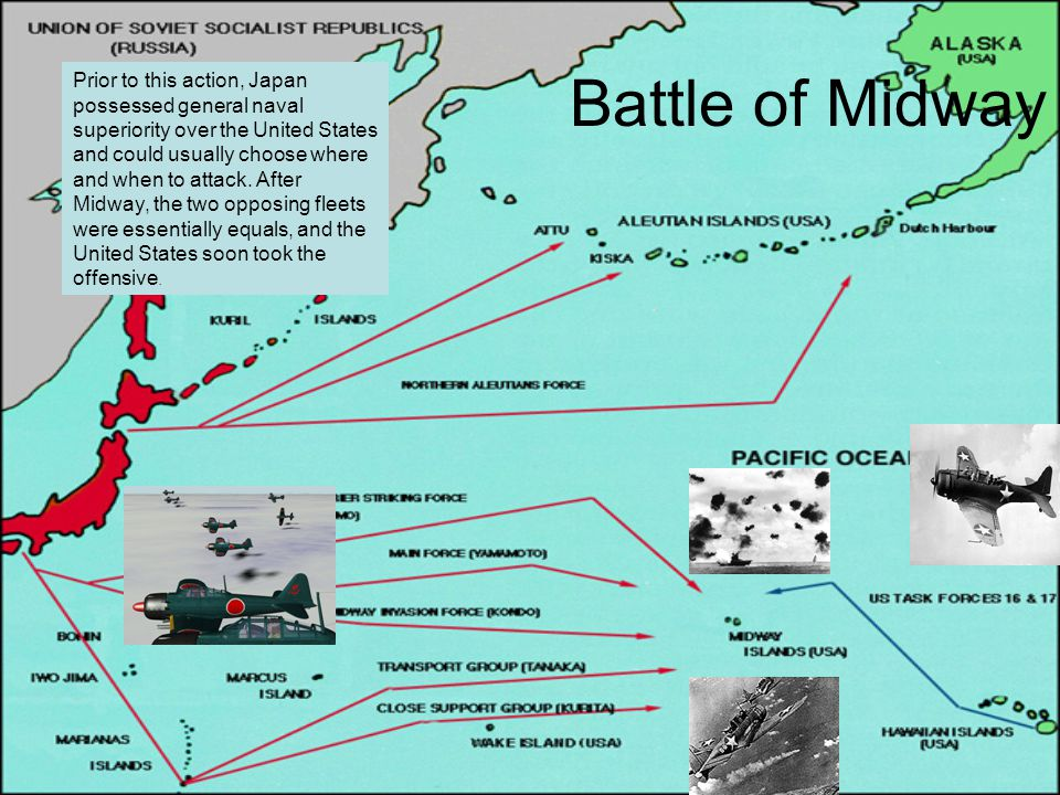 Prior to this action, Japan possessed general naval superiority over the United States and could usually choose where and when to attack. After Midway, the two opposing fleets were essentially equals, and the United States soon took the offensive.