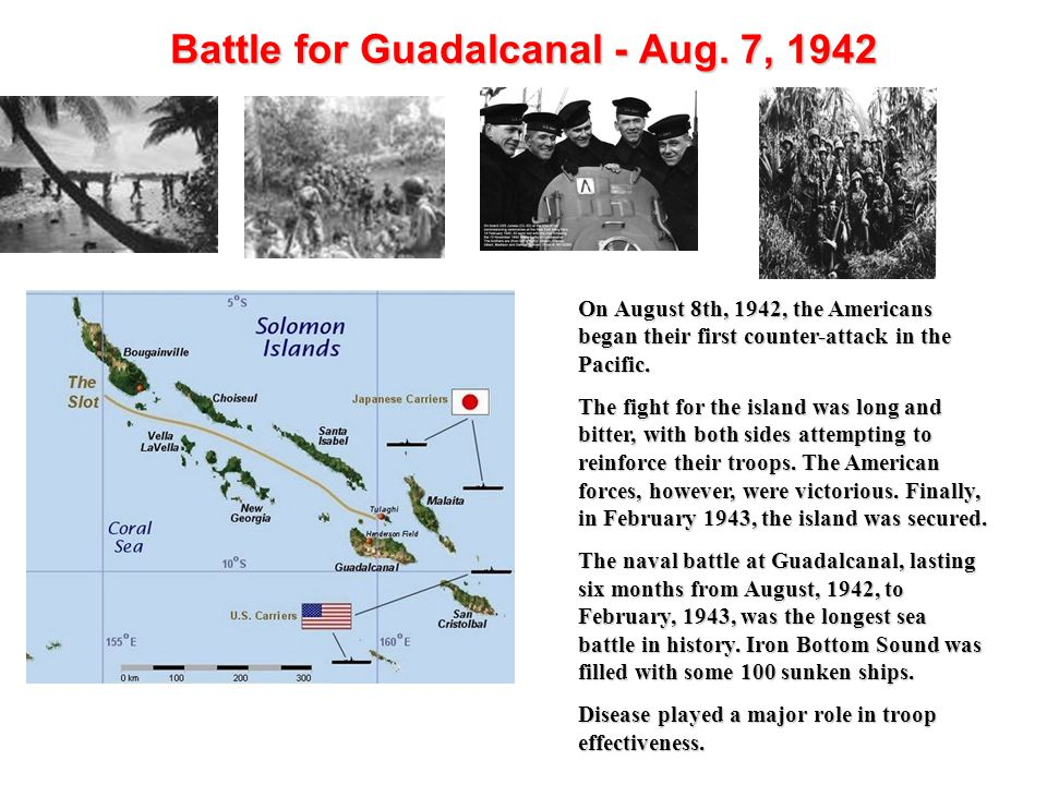 Battle for Guadalcanal - Aug. 7, 1942