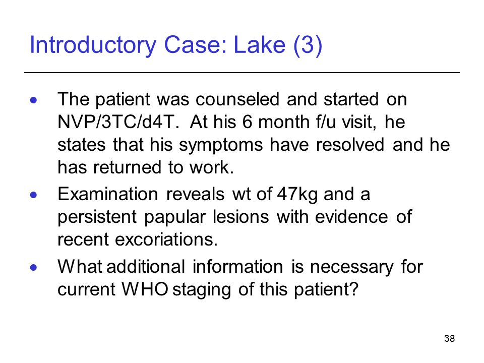 Introductory Case: Lake (3)