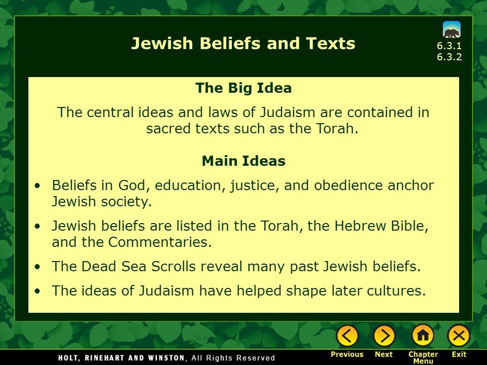 Jewish Beliefs and Texts