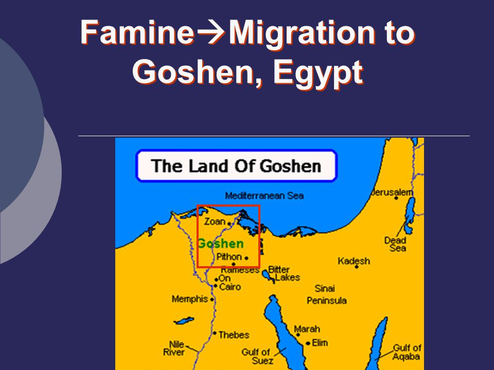 FamineMigration to Goshen, Egypt