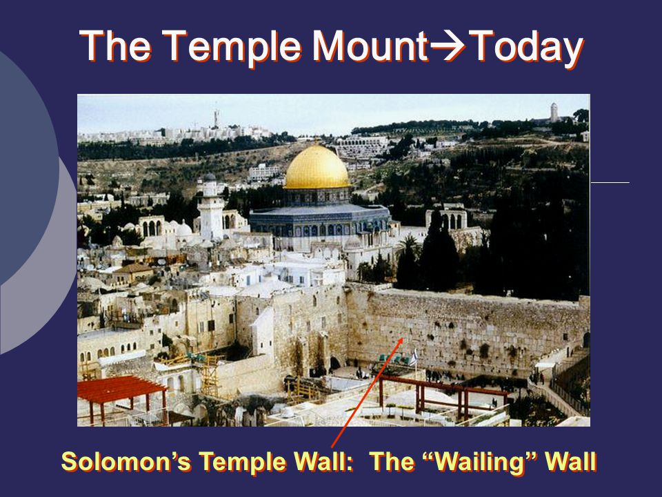 The Temple MountToday Solomon's Temple Wall: The Wailing Wall