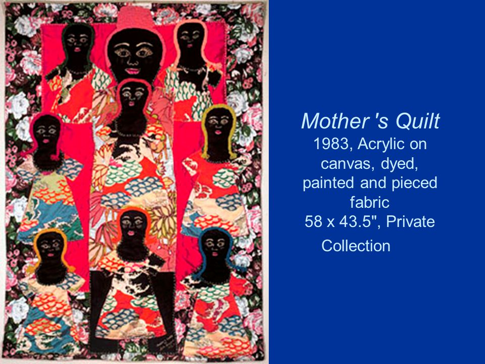 Mother s Quilt 1983, Acrylic on canvas, dyed, painted and pieced fabric 58 x 43.5 , Private Collection
