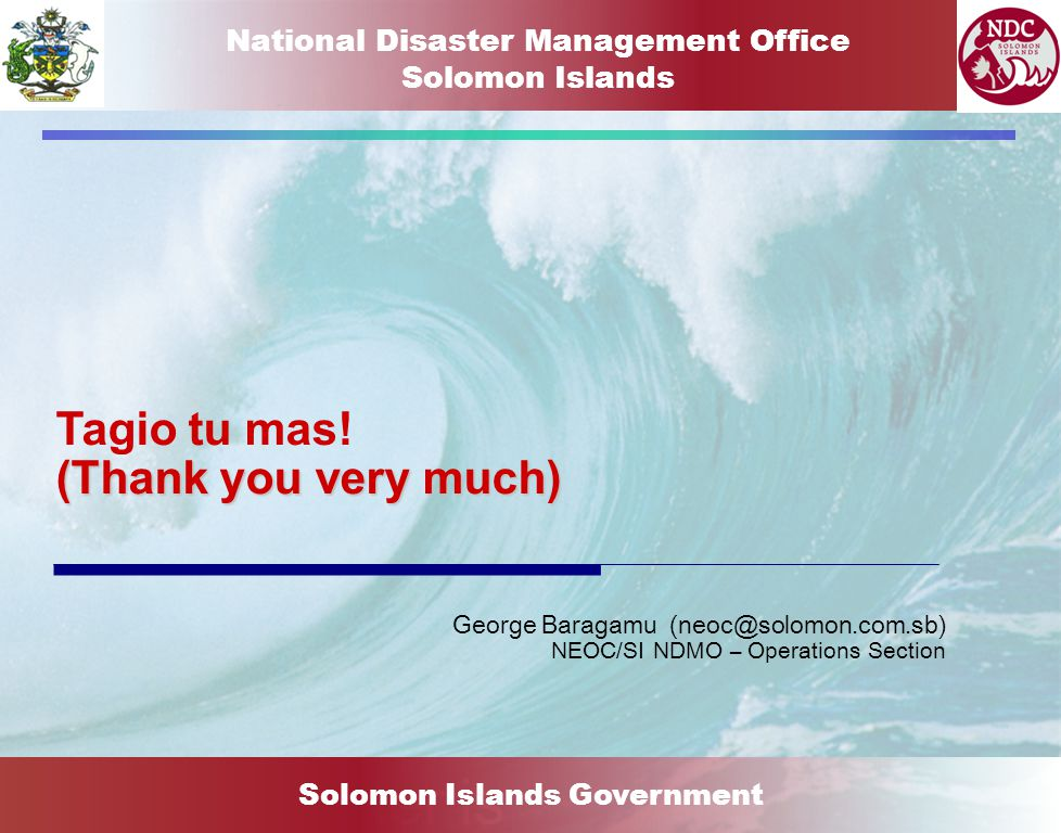 National Disaster Management Office