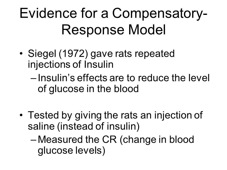 Evidence for a Compensatory-Response Model