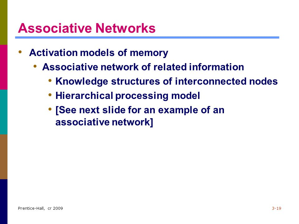 Associative Networks Activation models of memory