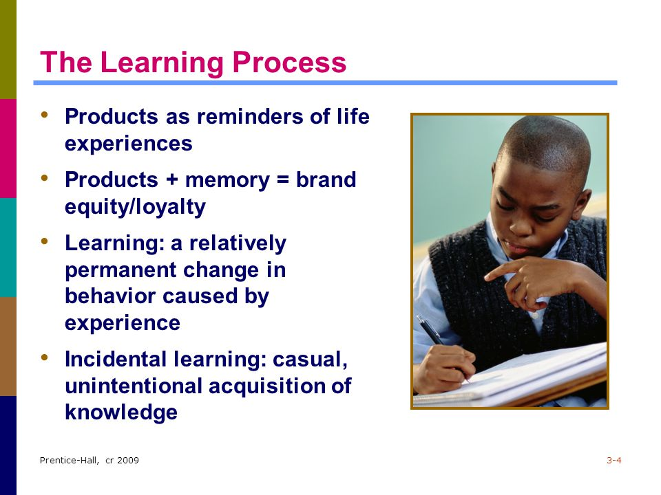 The Learning Process Products as reminders of life experiences