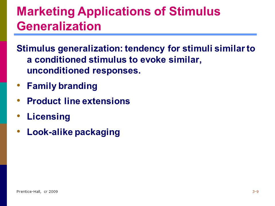 Marketing Applications of Stimulus Generalization
