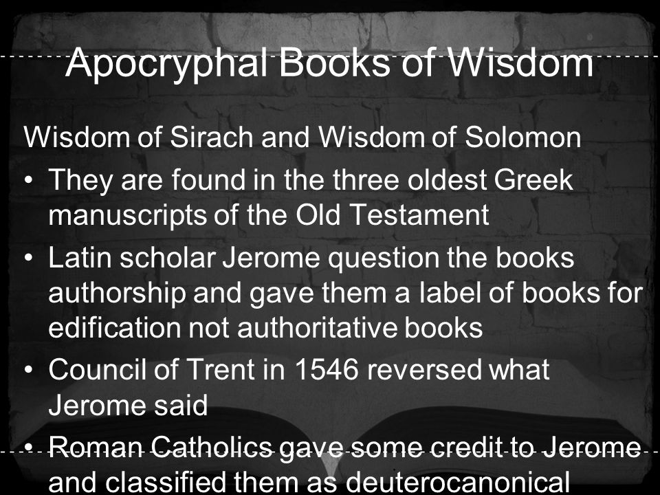 Apocryphal Books of Wisdom