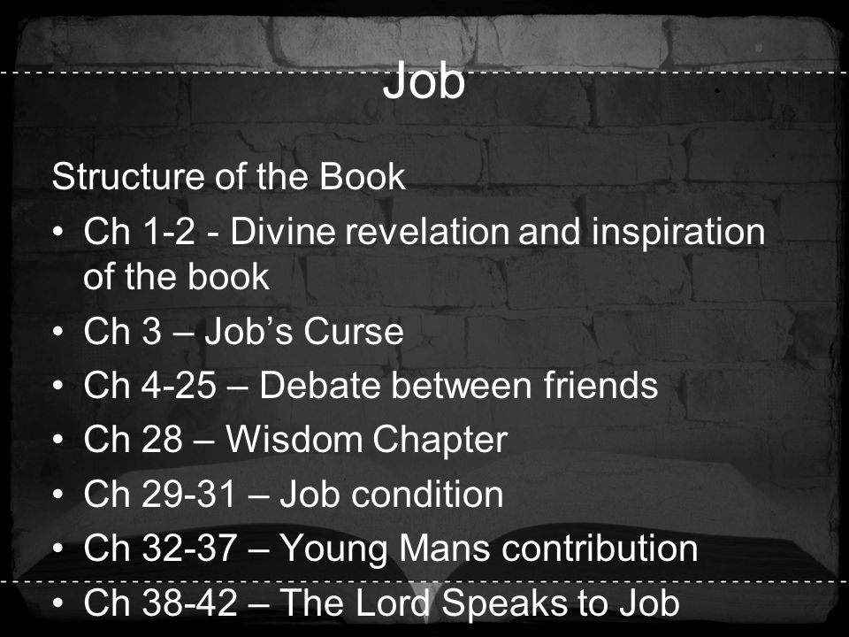 Job Structure of the Book