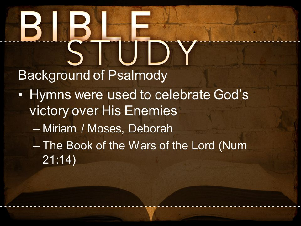 Background of Psalmody