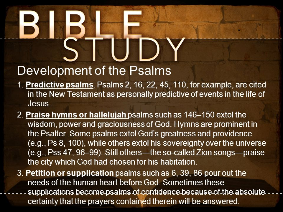 Development of the Psalms